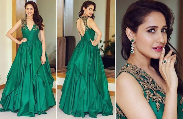 Pragya Jaiswal in Green Gown at Star Studded Filmfare Awards