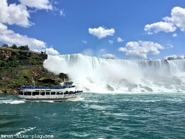 Maid of the Mist at American Falls at Niagara
