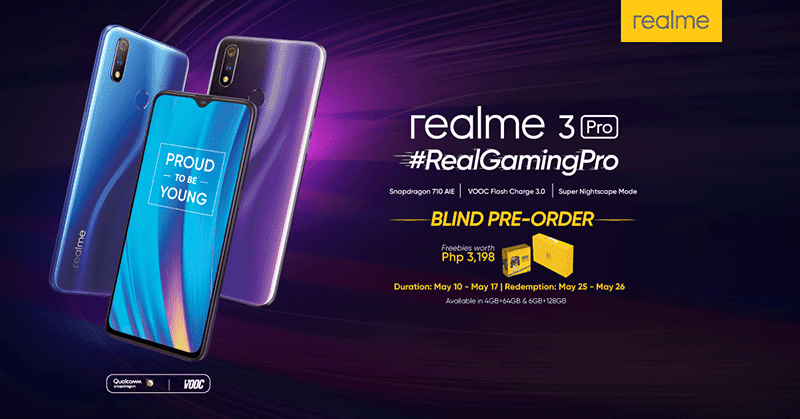 Realme 3 Pro PH blind pre-order details and freebies announced