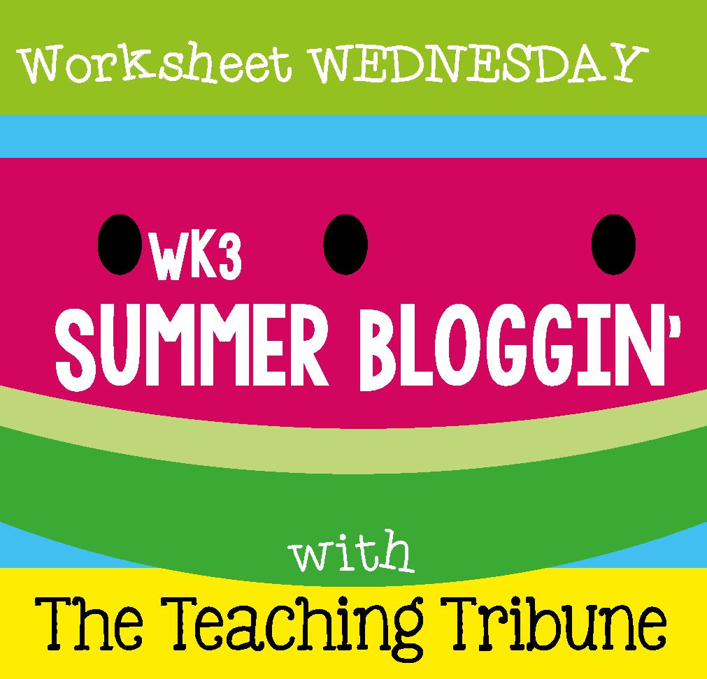 http://www.theteachingtribune.com/2014/06/its-worksheet-wednesday-3.html