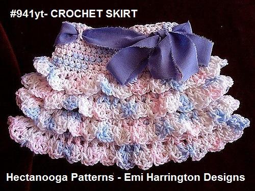 Hectanooga Patterns Free Crochet Pattern Ruffled Crochet Skirt