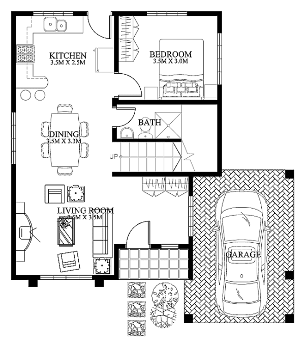 mhd 2012004 plan details - Simple Modern House Floor Plans