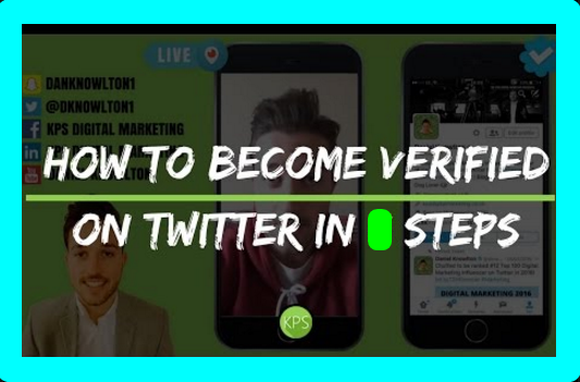 How Do You Become Verified On Twitter