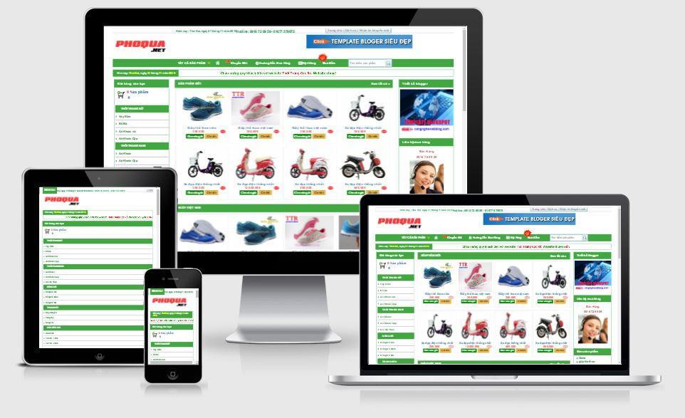 Chia sẻ giao diện bán hàng cực đẹp cho blogspot