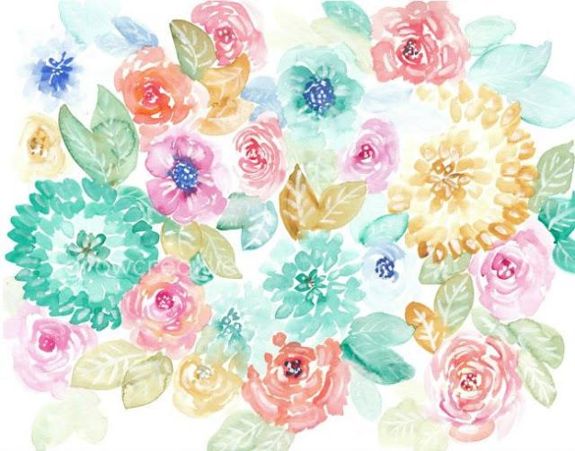 11x14 watercolor flowers
