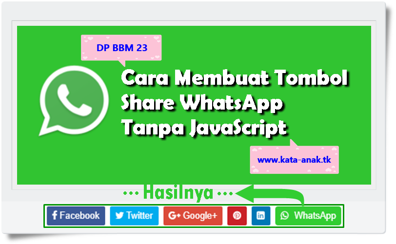 Cara Membuat Tombol Share WhatsApp Tanpa JavaScript