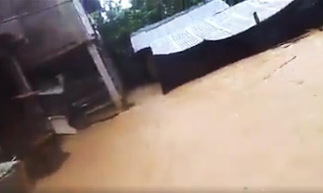 Desborde de río Espino daña viviendas en distrito de Monzón