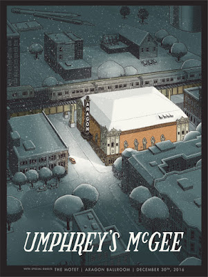 Justin Santora Umphrey's McGee Chicago Print