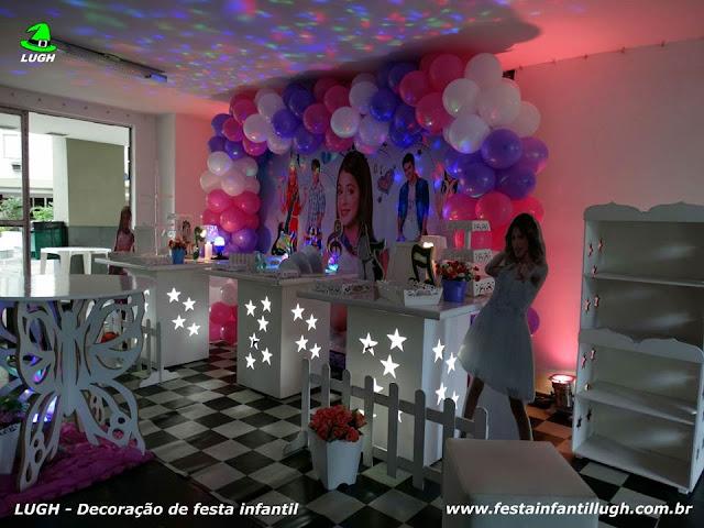 Mesa provençal decoração Violetta - Festa de aniversário infantil