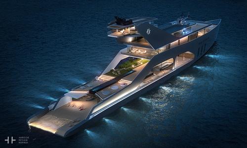 Info.Tinuku.com Super Yacht 108M Mono Hull Klasik dari Hareide Design dan Pantai Pribadi