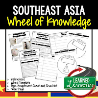 Southeast Asia Activity, World Geography Activity, World Geography Interactive Notebook, World Geography Wheel of Knowledge (Interactive Notebook)