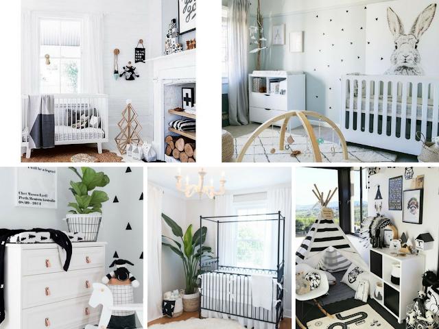 Decoração Black and White - Quarto de Bebé