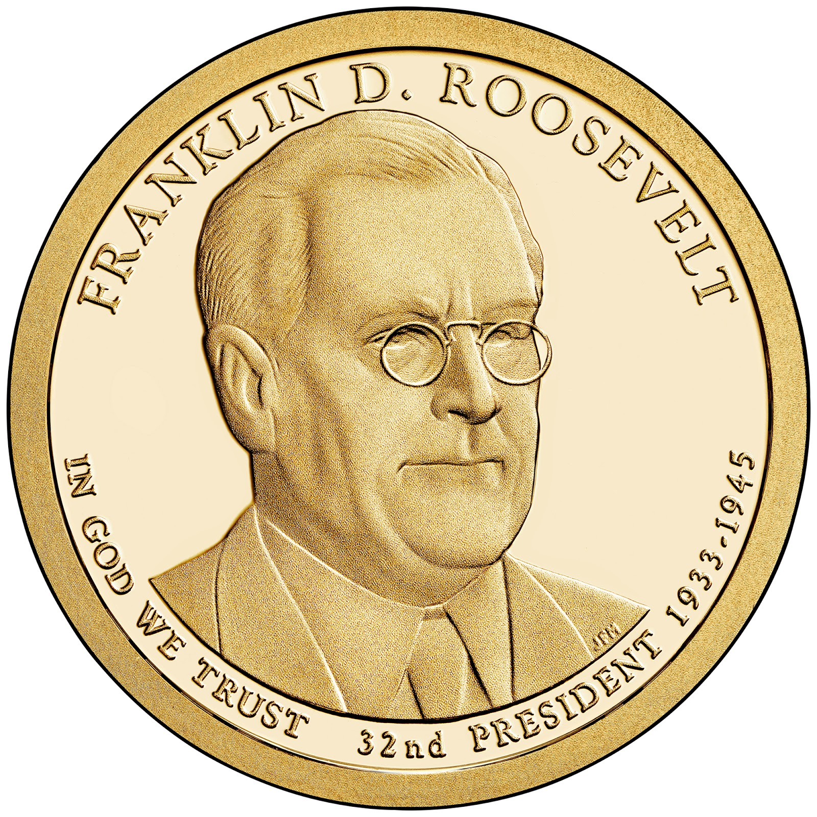 2014 D Franklin D Roosevelt Presidential Dollar ~ Position A from US Mint Roll