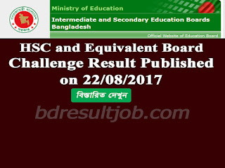 HSC and Equivalent Board Challenge result 2017