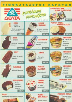 Η ιστορία του ελληνικού παγωτού