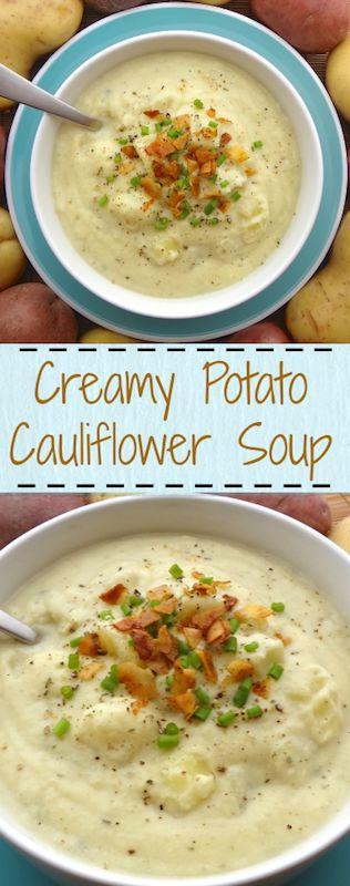 CREAMY POTATO CAULIFLOWER SOUP