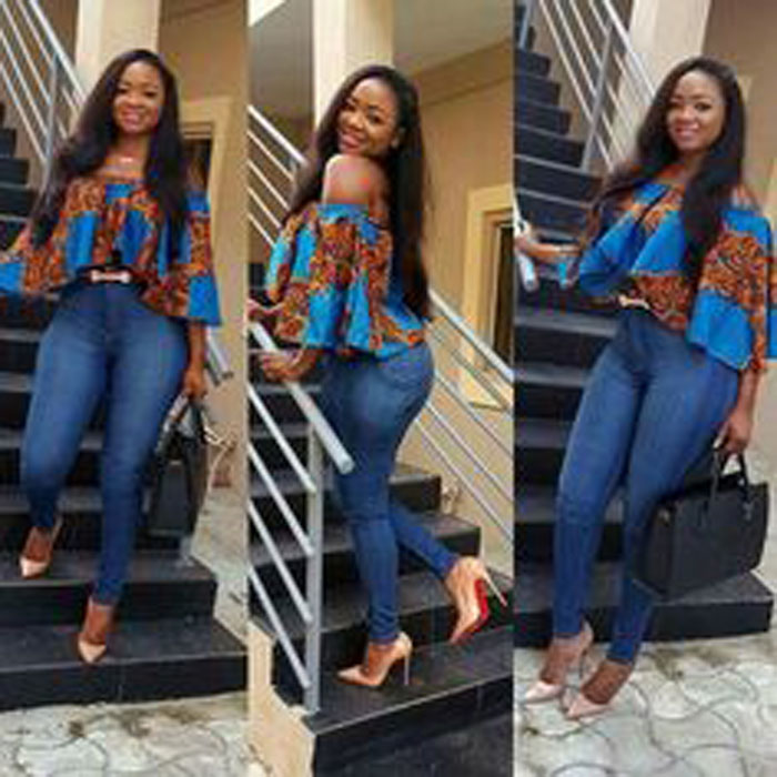 ankara blouses on jeans (1)