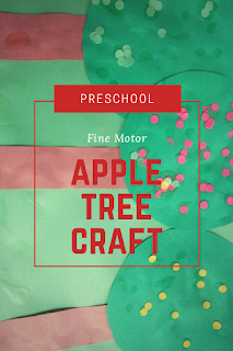 Preschool Fine Motor Apple Tree Craft