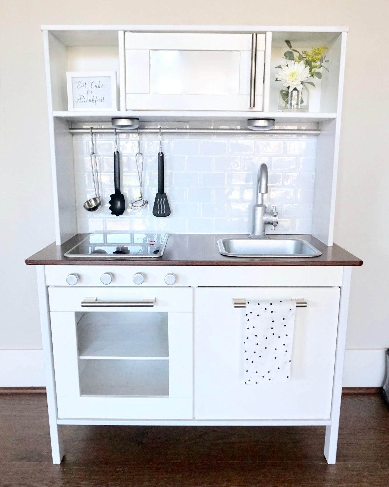 Ikea Hack : White U0026 Modern Play Kitchen