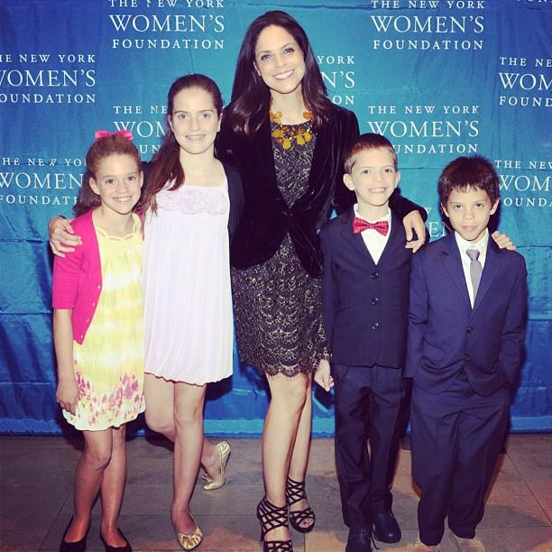 Soledad O'Brien with her four children