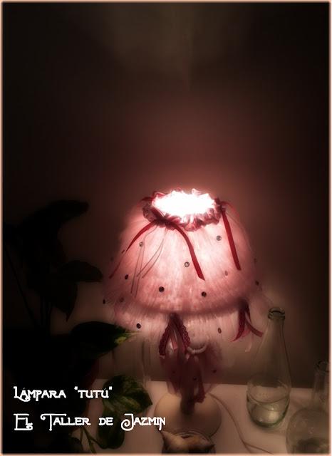 Pantalla de lámpara de tul-El Taller de Jazmin