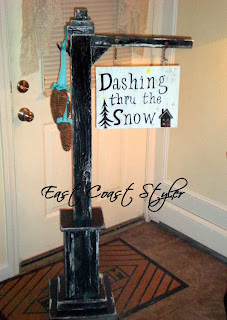 painted wooden sign post DIY scrap wood