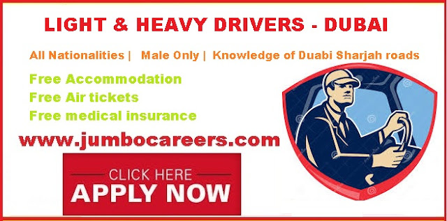 driver jobs in dubai, Driver salary in Dubai. Driver jobs Dubai today.
