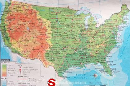 Peta Atlas Amerika Serikat 2018