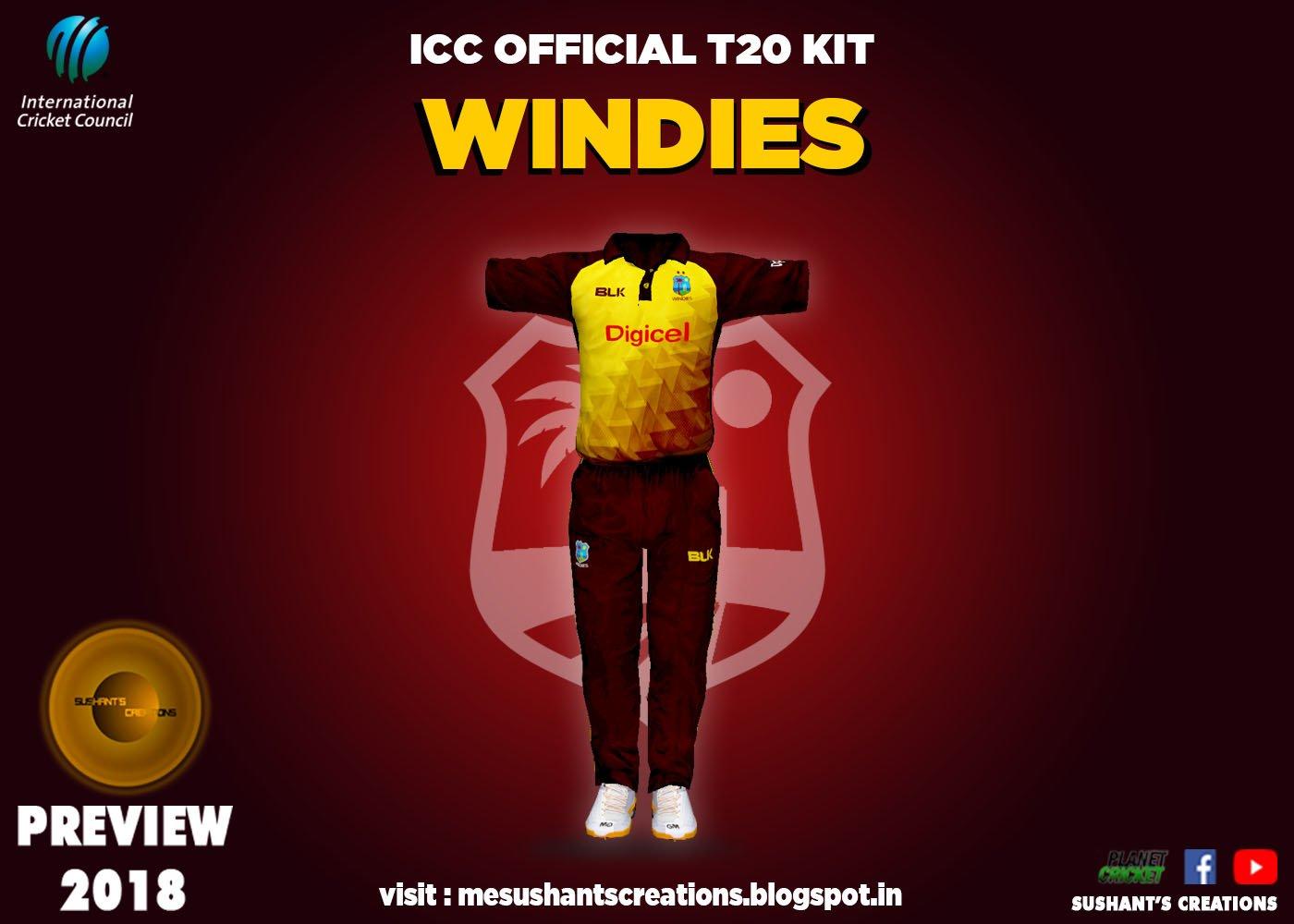 WEST INDIES T20 KIT 2018-19