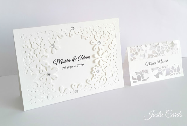 wedding invitation and palce card