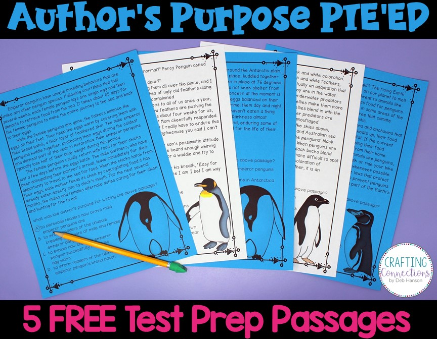 Have you increased the rigor in order to prepare your students for authors purpose test questions? FREE author's purpose test prep passages, posters (persuade, inform, entertain, explain, describe), and many classroom ideas!