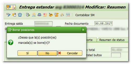 Eliminar entregas SAP SD VL02N Consultoria-SAP