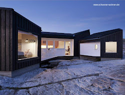 arquitectura moderna madera nordica negro tipo casa cabana nordica cabana nordico contemporanea noruega casass diseno