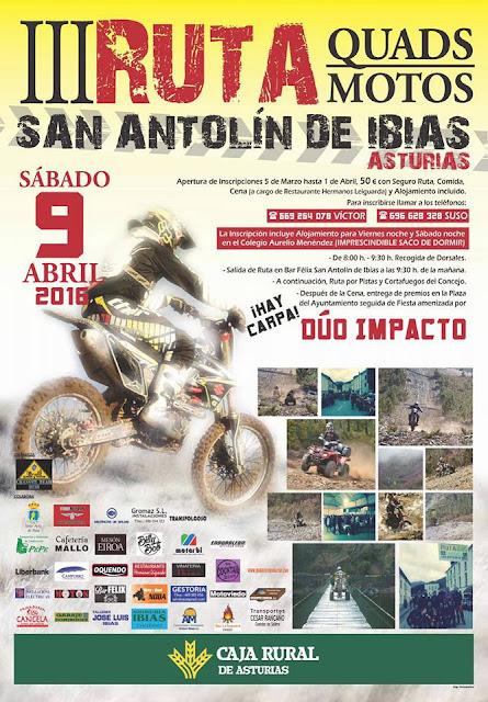 III RUTA QUADS/MOTOS SAN ANTOLIN DE IBIAS 2016