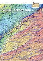 Front page of the annual 2016 report from Fugro