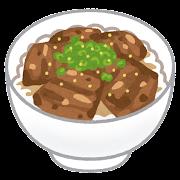 チャーシュー丼のイラスト