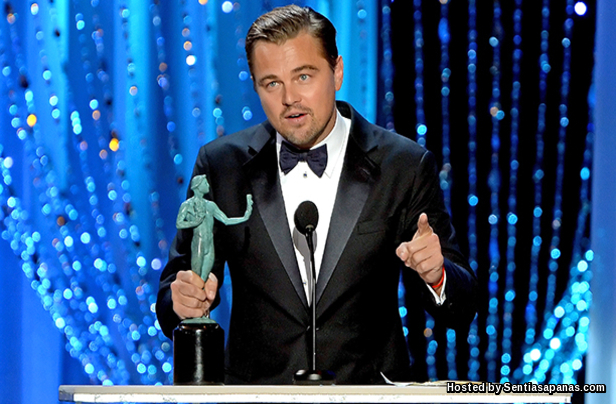 Leornardo Dicaprio Oscars 2016