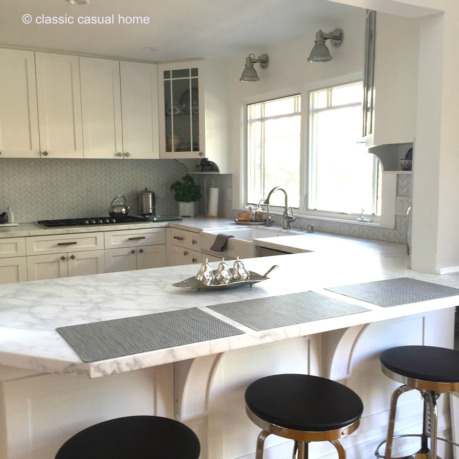 Before And After Merging Two Rooms Has Created A Super: Classic • Casual • Home: Fresh White Kitchen Makeover