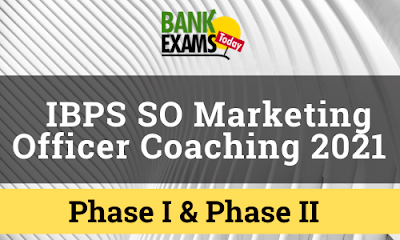 IBPS SO Marketing Officer Coaching 2021
