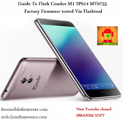 Guide To Flash Condor M1 SP614 MT6755 Factory Firmware tested Via Flashtool