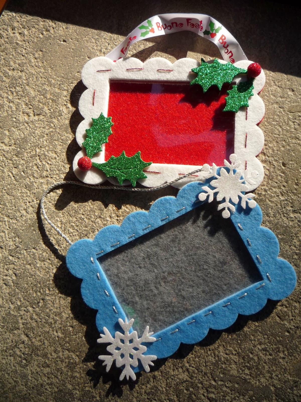 Regali Di Natale In Pannolenci.Passione Creativita Feltro Lavori Di Natale 3
