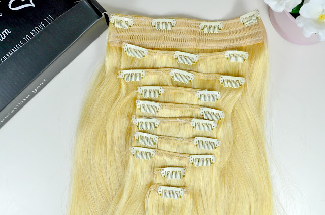 Irresistible me - Hair extensions - Clip in extensions - human hair extensions - silver hair - before and after - remy hair - review