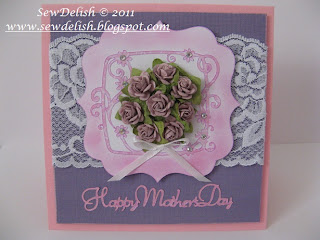 Mother's day cricut lacy labels seasonal cake art prima flowers lace card