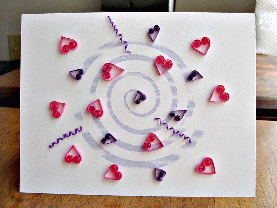 molly smith easy quilling on simple cards
