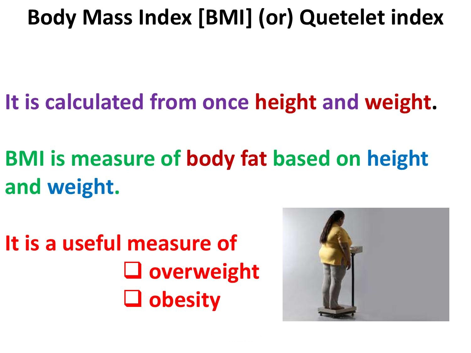 How To Calculate Bmi Body Mass Index Class 10th Sst
