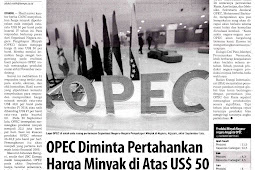 OPEC Asked to Maintain Oil Prices Above US $ 50