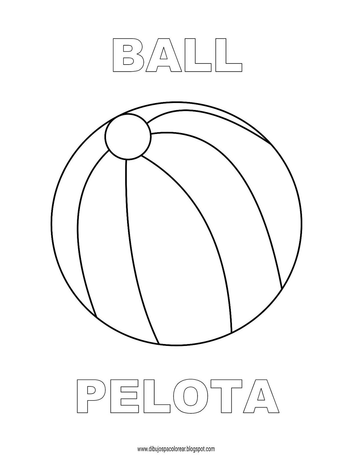 Dibujos Inglés Español Con P Ball Pelota