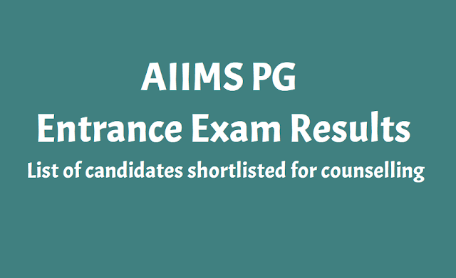 aiims pg 2020 results declared on aiimsexams.org,aiims pg list of candidates shortlisted for counselling,result for the aiims pg entrance examination,aiims pg entrance exam results 2020