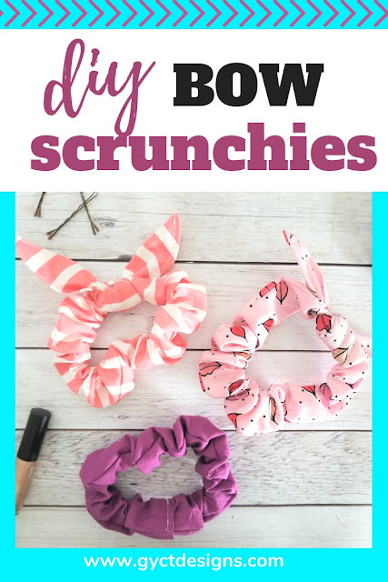 Learn how to make a scrunchie with this quick DIY tutorial and free PDF sewing pattern or svg cut file.