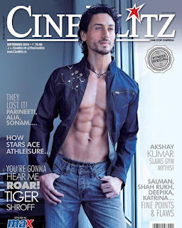 Tiger Shroff chiseled body he appears on the Cover Page of CineBlitz magazine September 2016